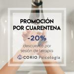 Promocion terapia psicologica barata por cuarentena coronavirus