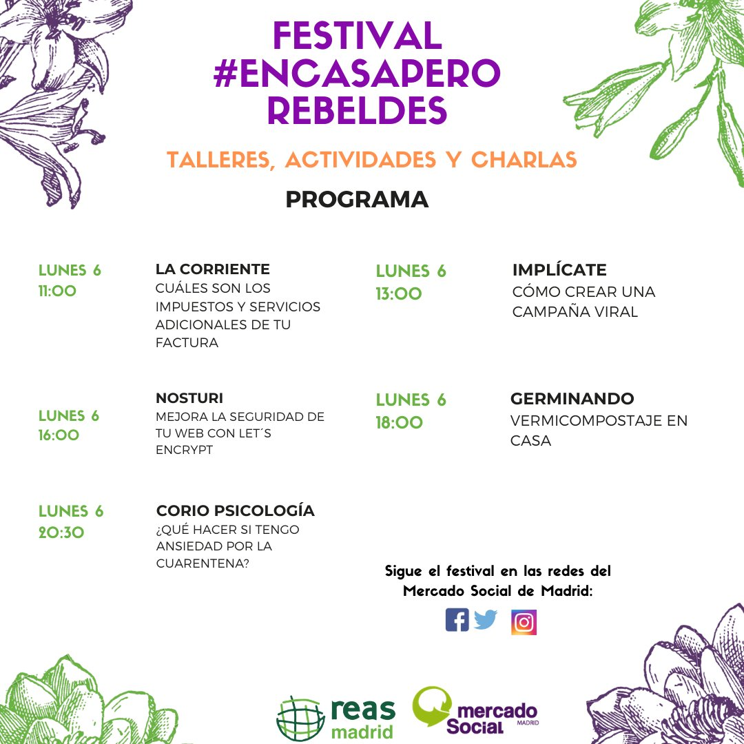 Festival EnCasaPeroRebeldes Lunes 6